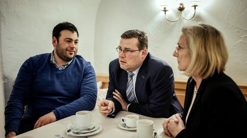 CSU: Landwirt Thomas Reiter-Hiebl, Fraktionsvize Wolfgang Krämer, Ortsvorsitzende Christine Schwaiger (von links)