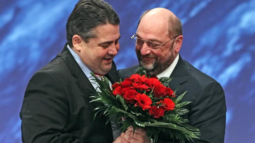 Martin Schulz und Sigmar Gabriel: Ein Bild aus besseren Zeiten: Sigmar Gabriel und Martin Schulz