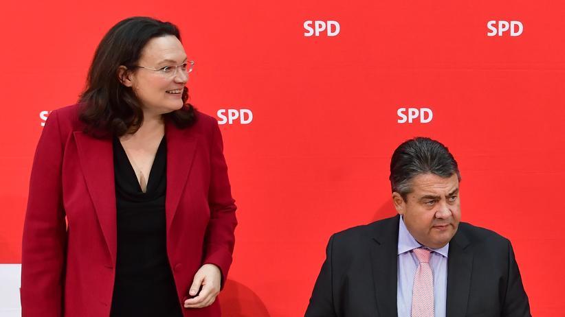 Sozialdemokratie: Andrea Nahles hat Sigmar Gabriel zur Ordnung gerufen.