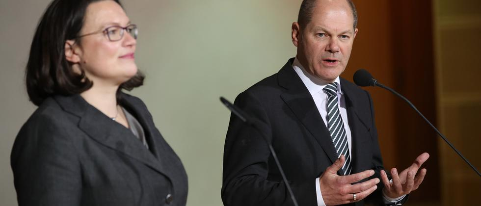 Andrea Nahles, Olaf Scholz SPD