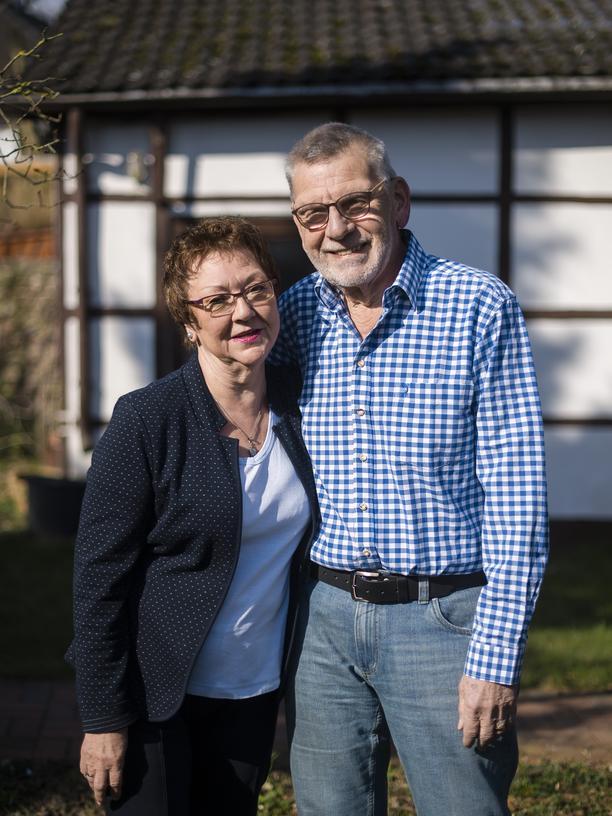 Angela Merkel: Doris Jansen und Gerfried Scholtz