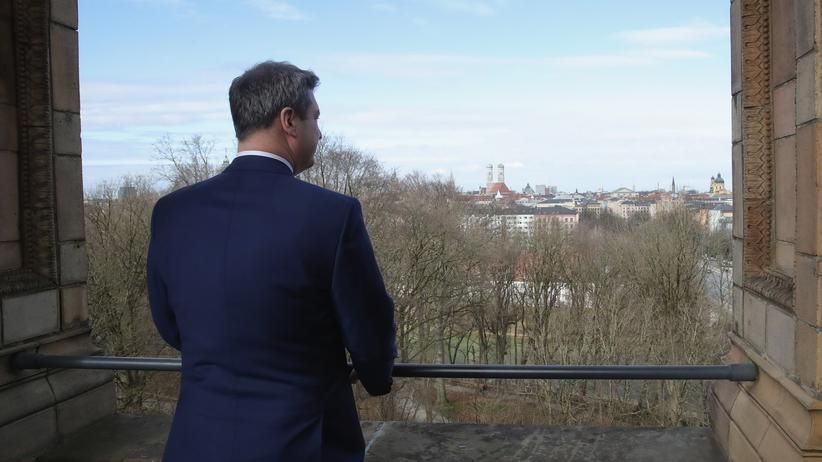 Markus Söder: Markus Söder vor seiner Wahl zum Ministerpräsidenten im Bayerischen Landtag