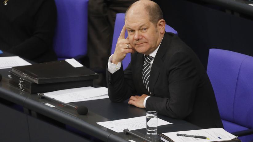Grundsicherung: Hält nichts vom Grundeinkommen: Bundesfinanzminister und Vizekanzler Olaf Scholz (SPD)