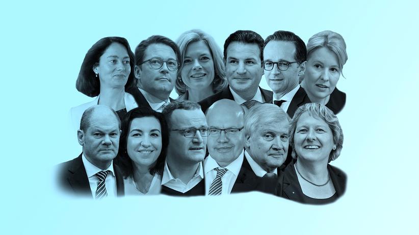 Große Koalition: Das komplette Team Merkel