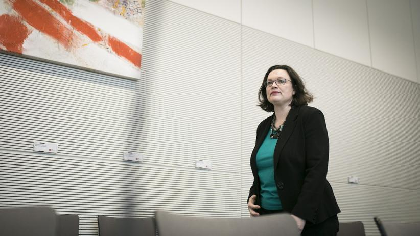 Andrea Nahles: Andrea Nahles im Fraktionssaal der SPD im Bundestag