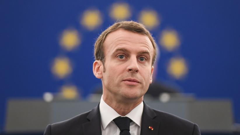 Europäische Union: Frankreichs Präsident Emmanuel Macron spricht im Europaparlament.