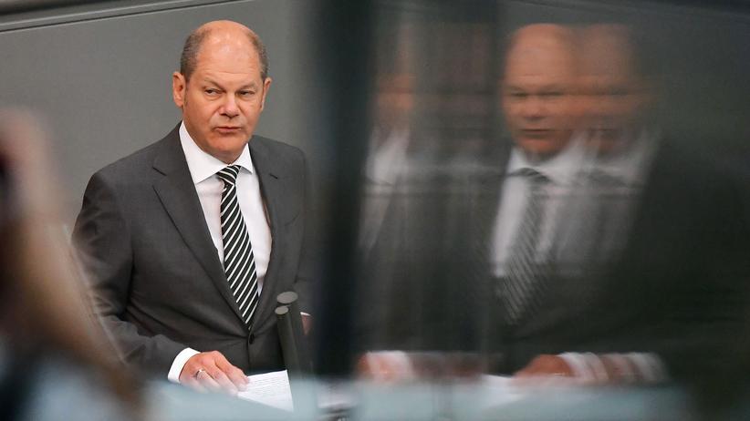 Bundesfinanzministerium: Bundesfinanzminister und Vize-Kanzler Olaf Scholz, SPD