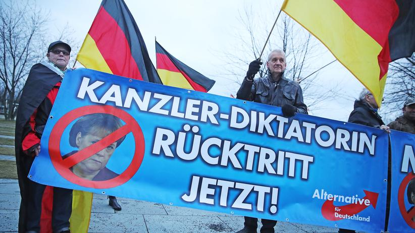 Norbert Lammert: AfD-Anhänger in Berlin