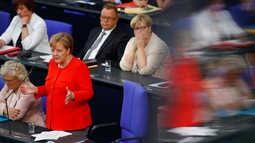 Angela Merkel: Routine pariert Provokation