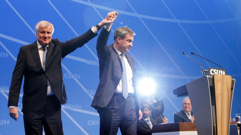CSU: Bundesinnenminister und CSU-Chef Horst Seehofer und Bayerns Ministerpräsident Markus Söder