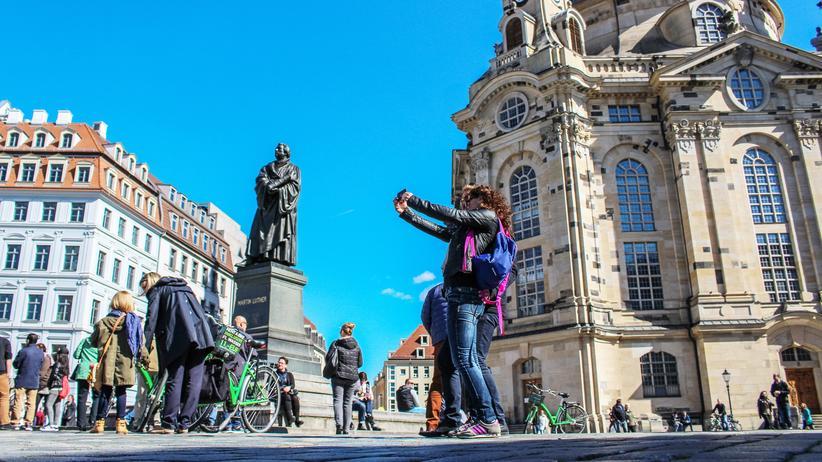Szene in Dresden