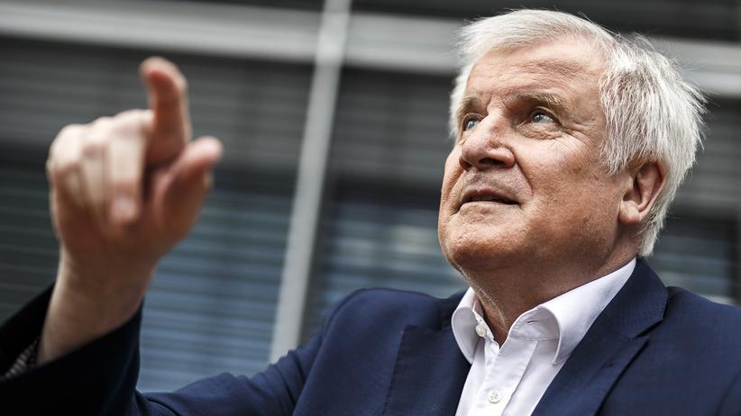 Horst Seehofer: CSU-Chef Horst Seehofer während des Interviews mit der ARD