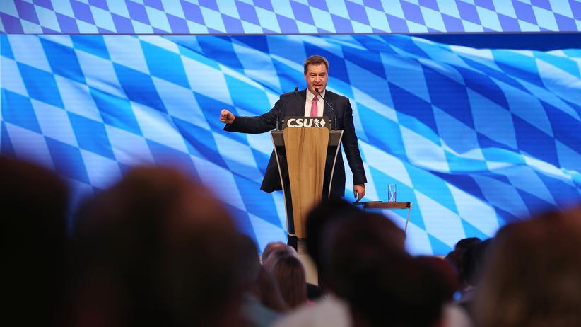 CSU-Parteitag: Markus Söder beim CSU-Parteitag in München