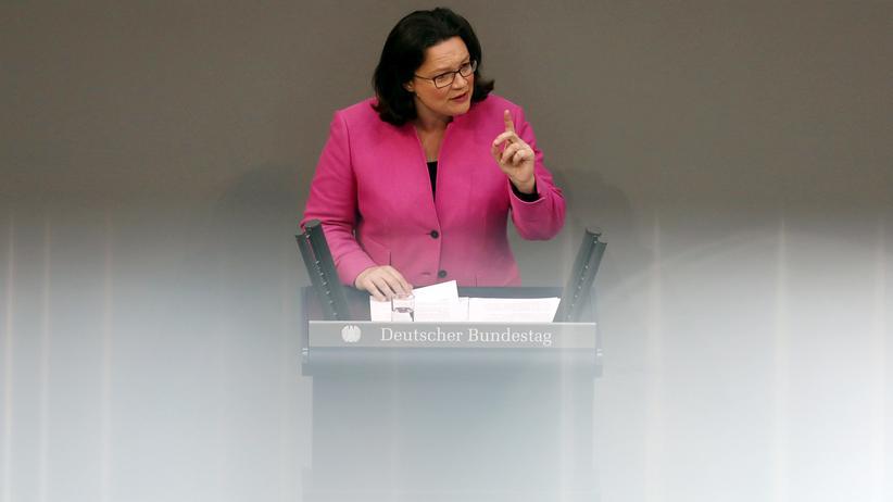 Einkommen: Die SPD-Vorsitzende Andrea Nahles