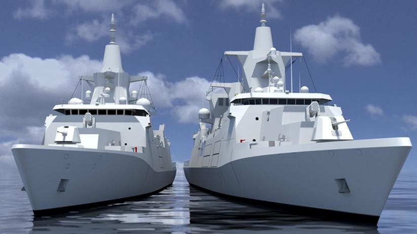 Marine: Projektskizze des Mehrzweckkampfschiffes