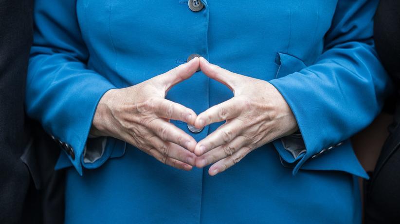 Angela Merkel: Detail der Bundeskanzlerin Angela Merkel (CDU)