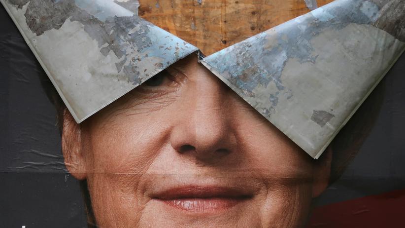Angela Merkel: Ein CDU-Wahlkampfplakat im vergangenen Bundestagswahlkampf
