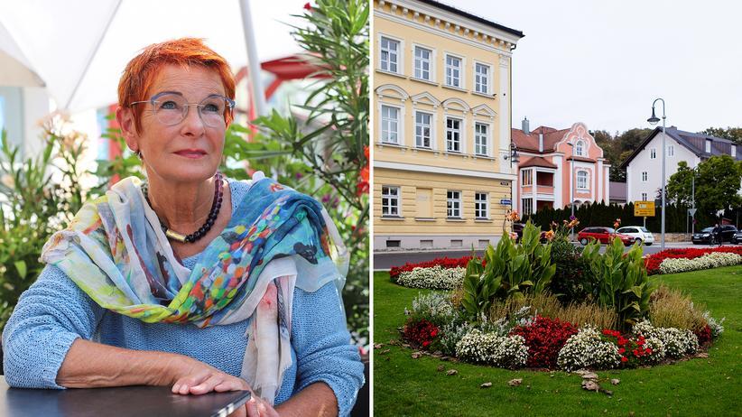 AfD in Bayern: Die CSU-Landtagsabgeordnete Reserl Sem, Grünflächen im Ortszentrum