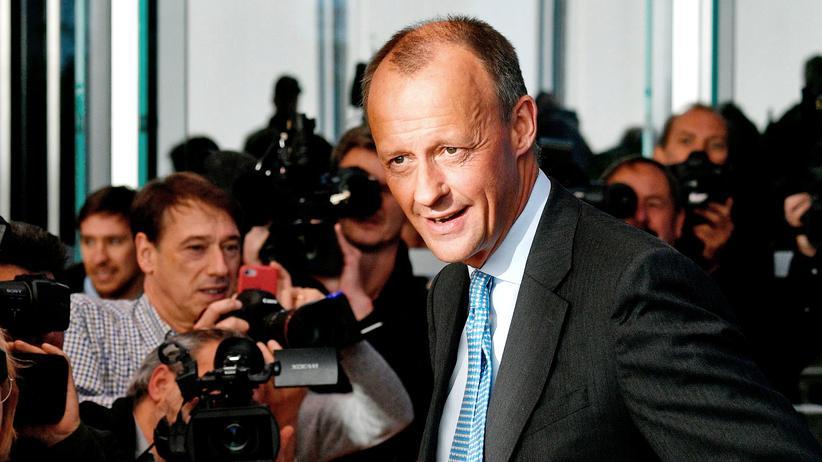 CDU-Vorsitz: Friedrich Merz in der Bundespressekonferenz in Berlin: Der Medienrummel hat zumindest schon Kanzlerformat.