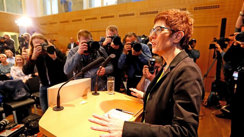 CDU-Vorsitz: Annegret Kramp-Karrenbauer in Berlin