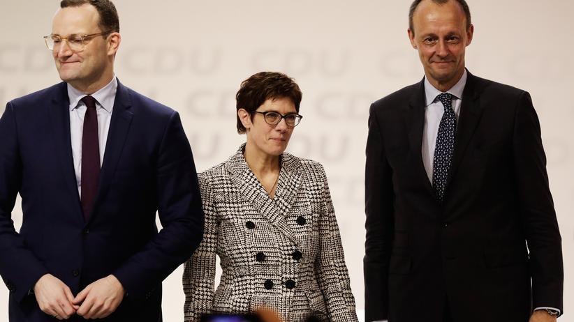 CDU-Vorsitz: Die drei hatten sich um die CDU-Spitze beworben: Jens Spahn, Annegret Kramp-Karrenbauer und Friedrich Merz (von links nach rechts)