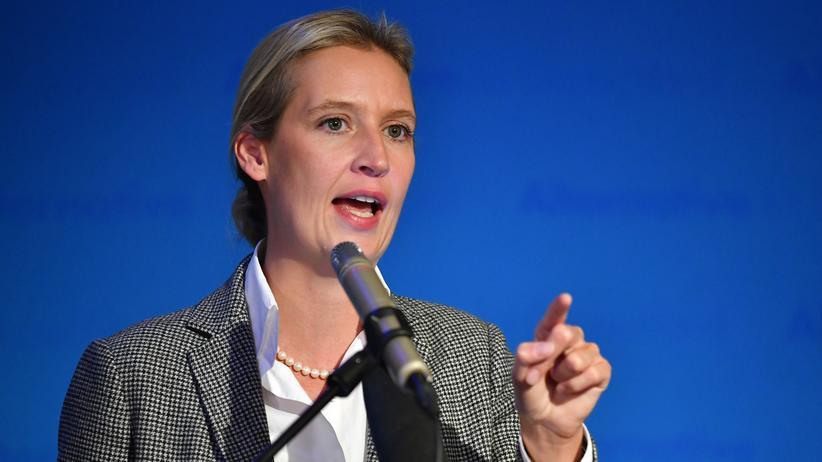 AfD: AfD-Bundestagsfraktionschefin Alice Weidel bei einer Parteiveranstaltung in München im vergangenen Oktober