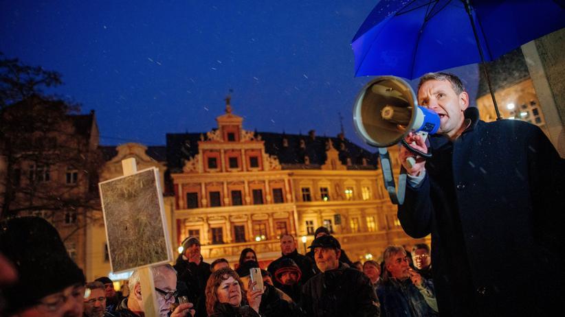 Rechtspopulismus: Der Thüringer AfD-Landesvorsitzende Björn Höcke, Erfurt