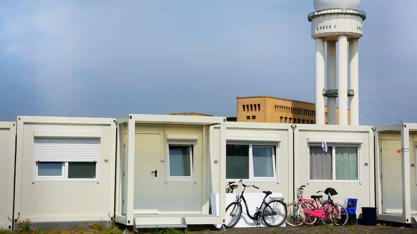Geordnete-Rückkehr-Gesetz: Eine Asylbewerberunterkunft auf dem Gelände des ehemaligen Flugahfen Tempelhof in Berlin