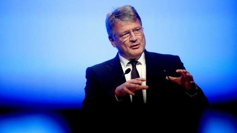 Jörg Meuthen: AfD-Chef Jörg Meuthen spricht vor Parteimitgliedern zum Start des Europawahlkampfes in Offenburg.
