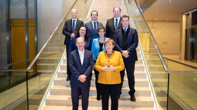 Koalitionsausschuss: So fröhlich wie auf diesem Foto dürfte es nicht die ganze Zeit während des Koalitionsausschusses am Dienstag zugegangen sein.