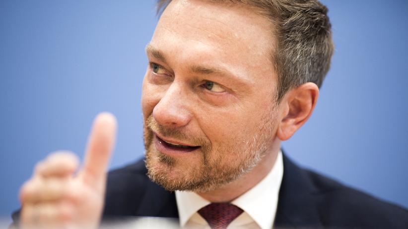 Christian Lindner: Christian Lindner während einer Rede in Berlin