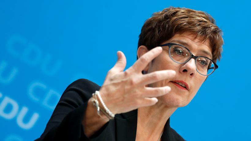 CDU-Vorsitzende: Die CDU-Vorsitzende Annegret Kramp-Karrenbauer