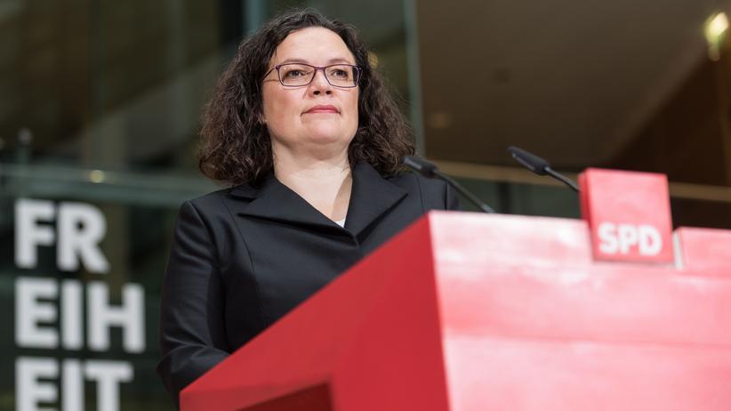 SPD: Andrea Nahles gibt ihre Ämter auf.