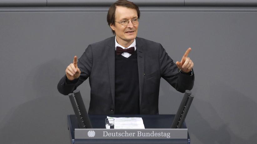 SPD: Der SPD-Politiker Karl Lauterbach bei einer Rede im Bundestag. Gemeinsam mit Nina Scheer bewirbt er sich um den Parteivorsitz.