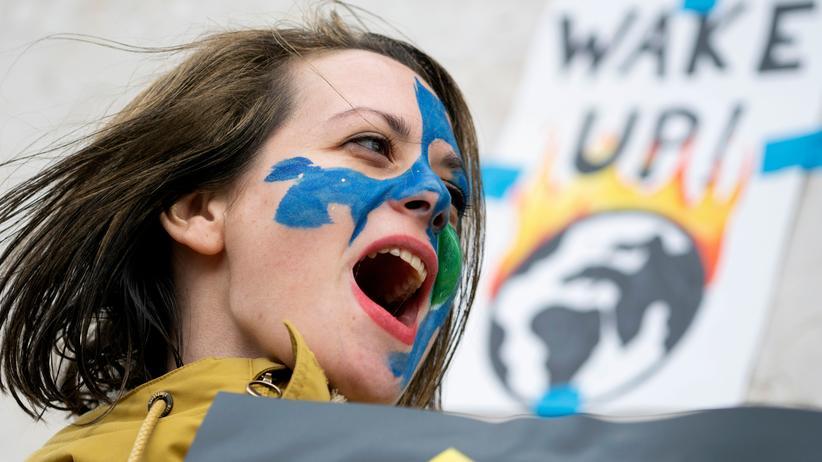 Fridays for Future: Klimaschutzprotest einer Fridays-for-Future-Aktivistin