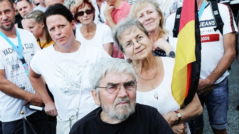 Landtagswahlen: AfD-Unterstützer im brandenburgischen Peitz