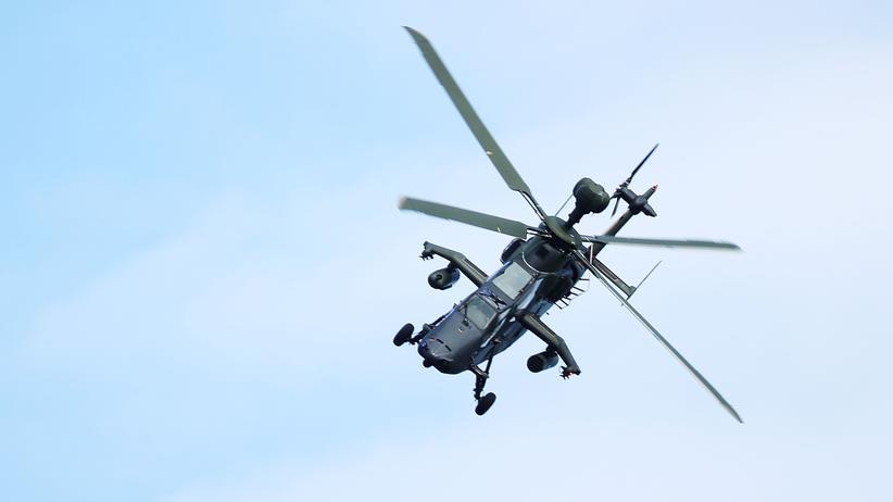 Militär: Ein Tiger-Kampfhubschrauber im April 2018 auf der Internationalen Luft- und Raumfahrtausstellung in Berlin