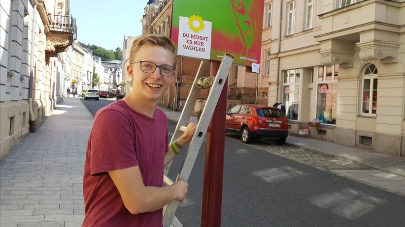 Die Grünen: Das einzige Grünen-Mitglied im sächsischen Sebnitz: Paul Löser