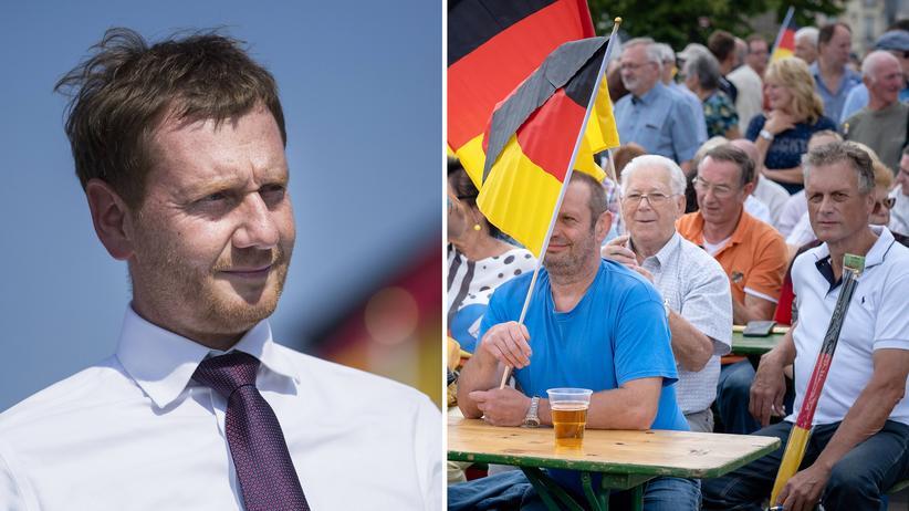 Sachsen und Brandenburg: Die Wahlsiege in Sachsen und Brandenburg haben etwas Vorläufiges, sie sind für Sachsen Ministerpräsident Michael Kretschmer (l.) und andere nur ein Sieg auf Bewährung.