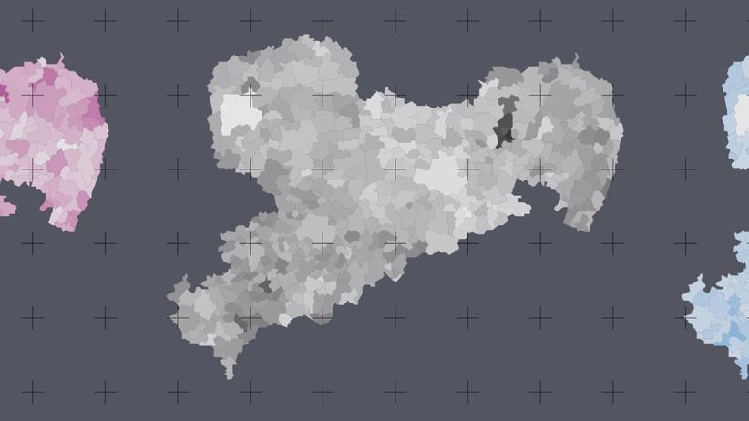 Wahlergebnisse in Sachsen: Wo die CDU noch 60 Prozent holt