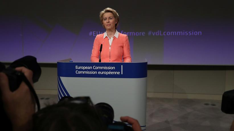 Ursula von der Leyen: Die designierte EU-Kommissionspräsidentin Ursula von der Leyen in Brüssel bei der Vorstellung ihrer Kommissionskandidaten