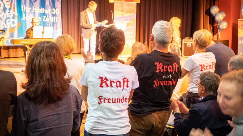 AfD: Wahlkampfabschluss der AfD im Comma Kulturhaus in Gera