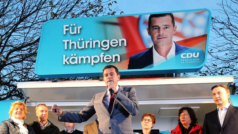 CDU in Thüringen: Mike Mohring, CDU-Spitzenkandidat in Thüringen: Lange hatte man gehofft, dass der Sieg von Bodo Ramelow 2014 nur ein Ausrutscher gewesen sei.