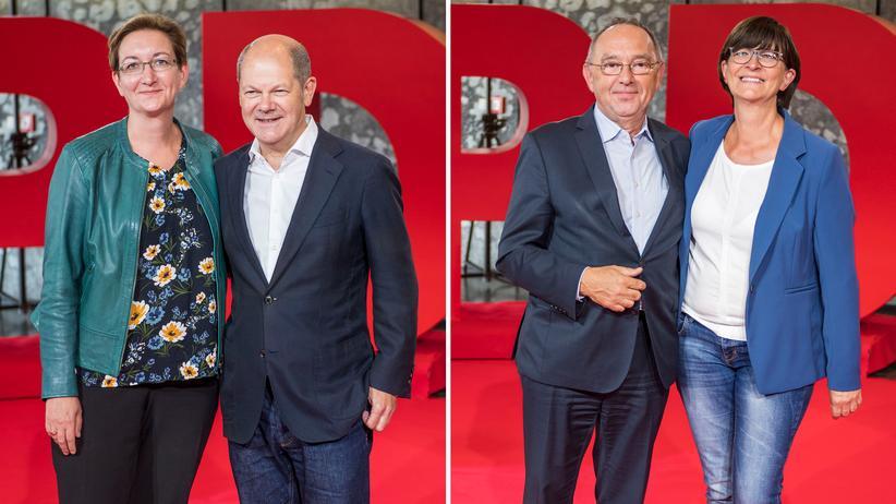 SPD-Mitgliederentscheid: Geywitz/Scholz und Walter-Borjans/Esken in Stichwahl um Parteivorsitz
