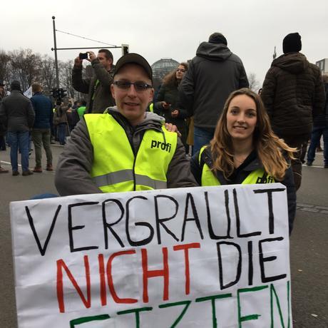 Proteste gegen Agrarpolitik: Peter und Sabine Kromwijk aus Usedom