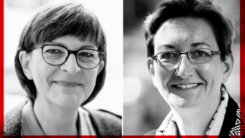 Saskia Esken oder Klara Geywitz: Sie wollen die zweite SPD-Chefin nach Andrea Nahles werden: Saskia Esken und Klara Geywitz