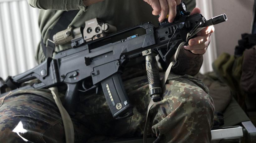 Bundeswehr: Soldat bei einer Übung der militärischen Spezialeinheit KSK