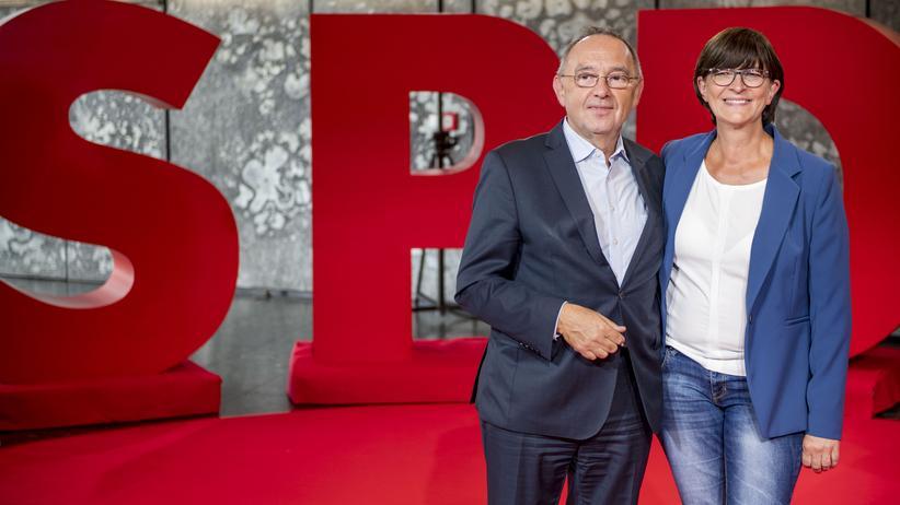 SPD: Große Aufgabe: Norbert Walter-Borjans and Saskia Esken