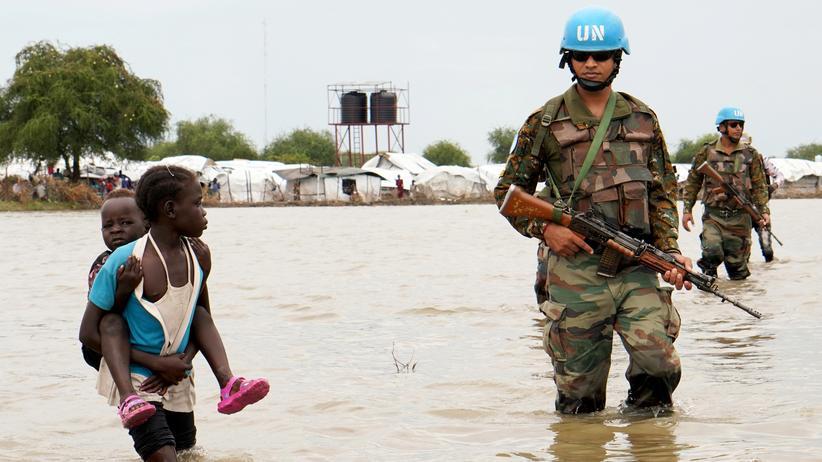 Sudan und Südsudan: UN-Blauhelme im November bei ihrem Einsatz in Pibor im Südsudan
