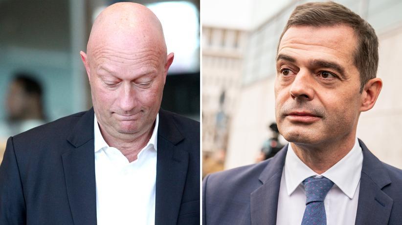 FDP und CDU: Links Thomas Kemmerich (FDP), rechts Mike Mohring (CDU). Sieht so echte Zerknischung aus?